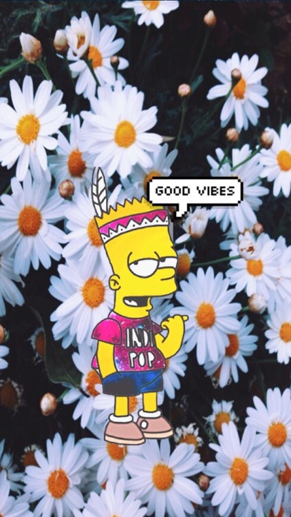 Hipster Iphone Wallpaper Quote Bart Simpson Wallpaper Tumblr