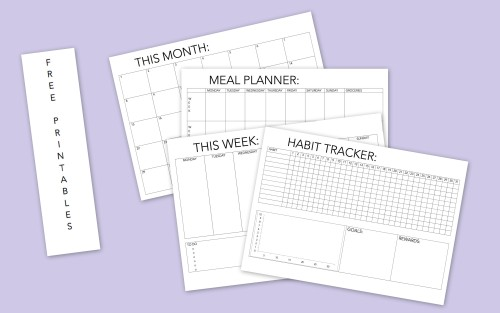 printable monthly planner Tumblr