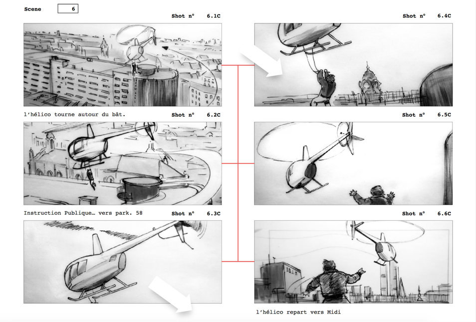 Film Storyboards \u2014 Drawers Surplus - A template in use This is a