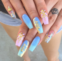 3d acrylic nails | Tumblr