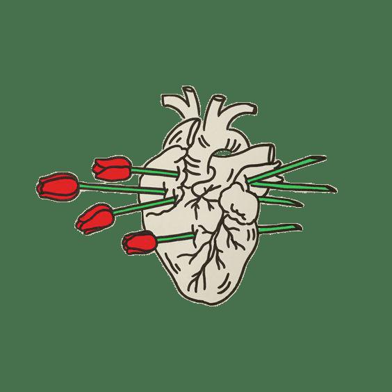 Sad Girl With Red Rose Wallpaper Transparent Png