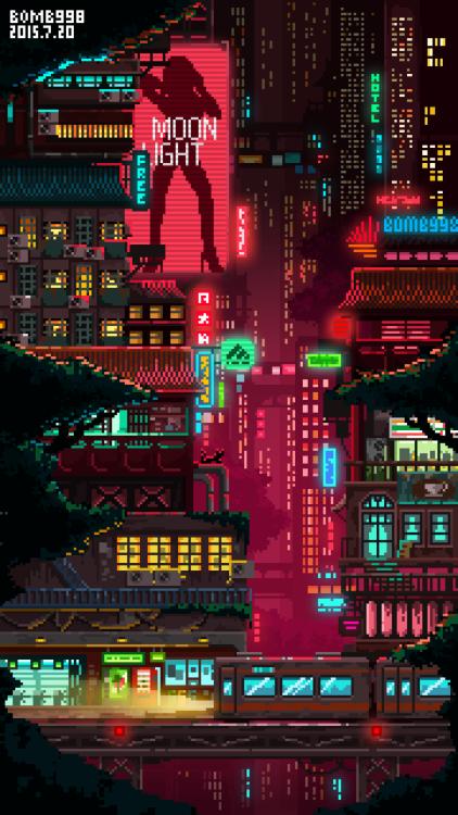 Back To The Future Iphone X Wallpaper Cyberpunk Pixel Art Tumblr