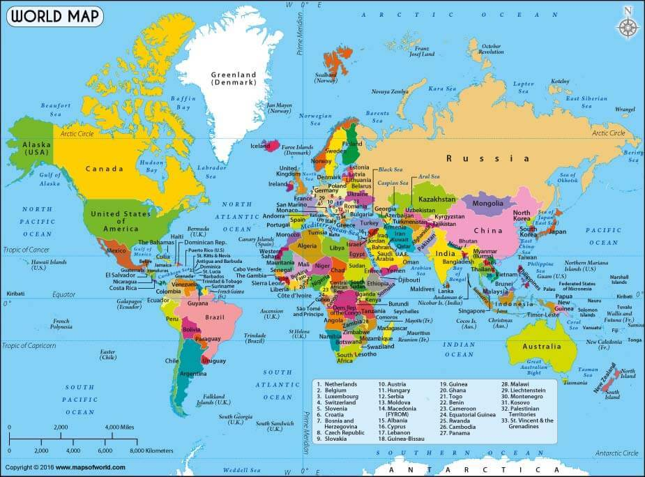 Land of Maps \u2014 World\u0027s Best World Map a printable map for free - best of world map with japan