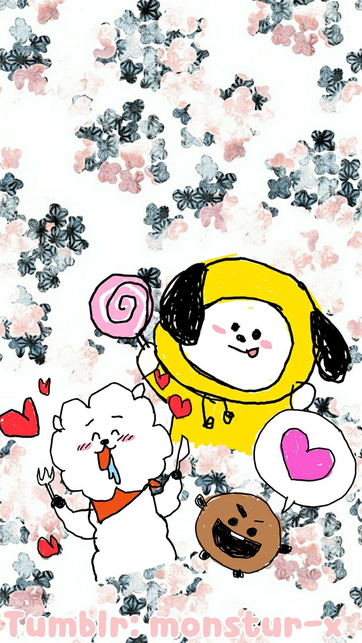Cute Doll Image Wallpaper Bt21 Wallpapers Made By Me Please Credit If
