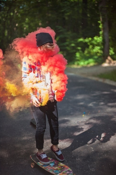 Hippie Boho Style Colorful Smoke On Tumblr