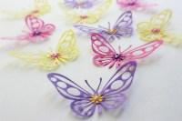MyDreamDecors  Purple, Yellow, Pink, Butterflies, 3d wall ...