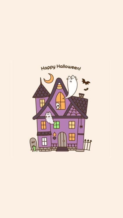 Fall Pumpkin Iphone Wallpaper Cat Pusheen Tumblr