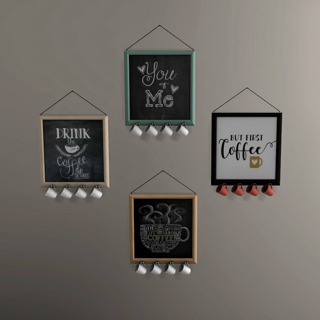 Tsr Sims 4 Teppiche 13pumpkin31 Leo Sims Coffee Wall Boards 2846 Poly 4