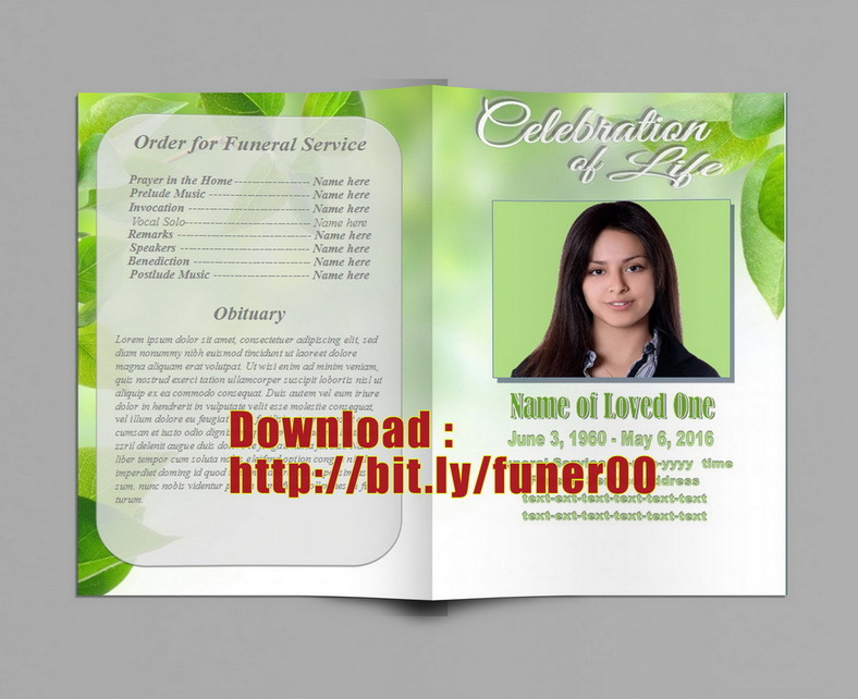 Free Funeral Program Templates - funeral templates