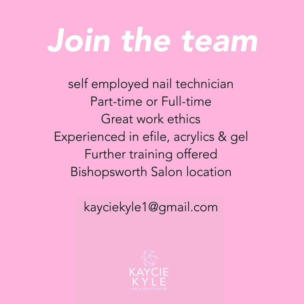We are looking for nail technicians to join our busy salon