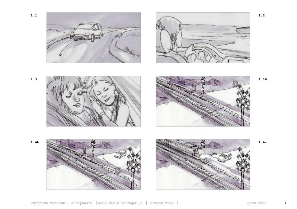 Film Storyboards \u2014 Drawers Surplus - Storyboard for road / rail