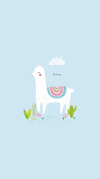 Cute Llama Wallpaper Desktop Kawaii Wallpapers Tumblr