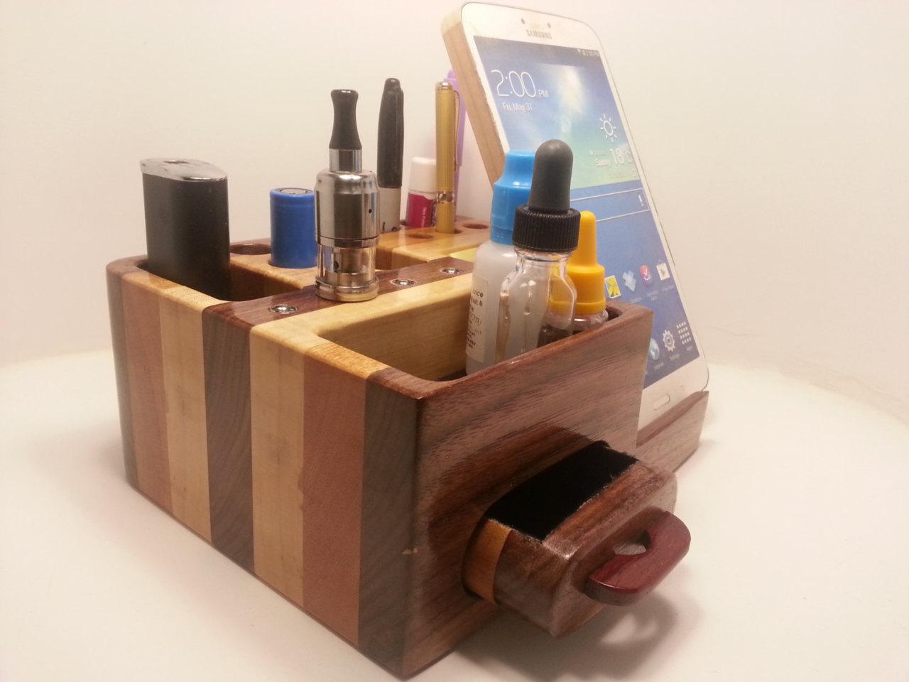 WOOD ART BOXES  Ecig Organizer, Vape stand, Cell Phone