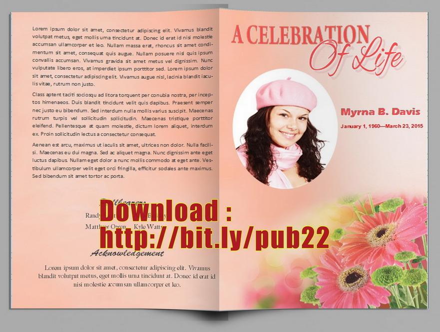Free Funeral Program Templates - celebration of life templates