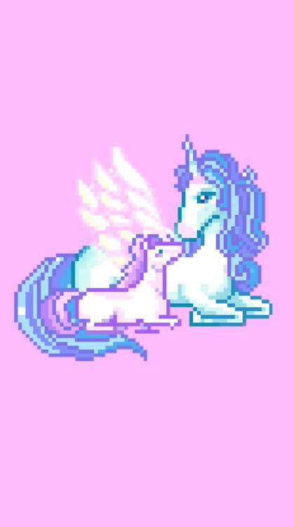 Iphone 6 Lock Screen Wallpaper Girl Unicorn Pixel Tumblr