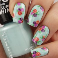 vintage rose nail art | Tumblr