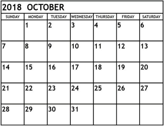 august 2018 calendar Tumblr