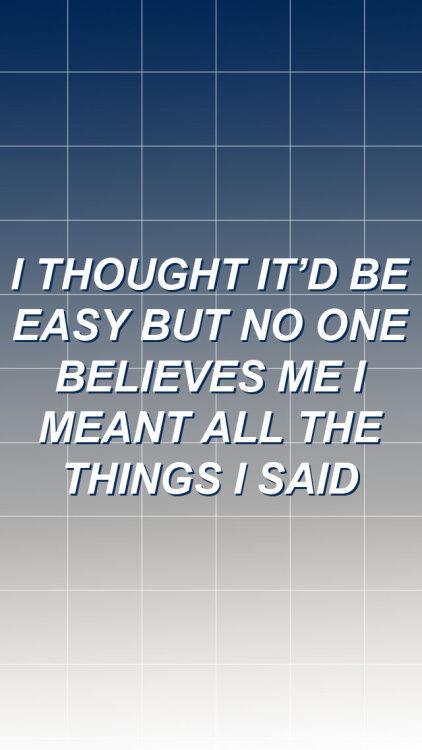 Boy Say To Girl Sorry Wallpaper Sum 41 Pieces Lyrics Tumblr