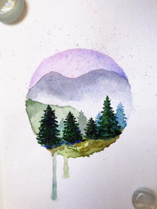 Fall Out Boy Lyrics Wallpaper Mountain Watercolour Tumblr