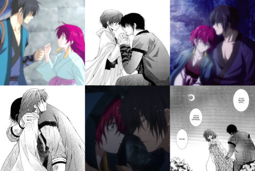 anime couples kissing