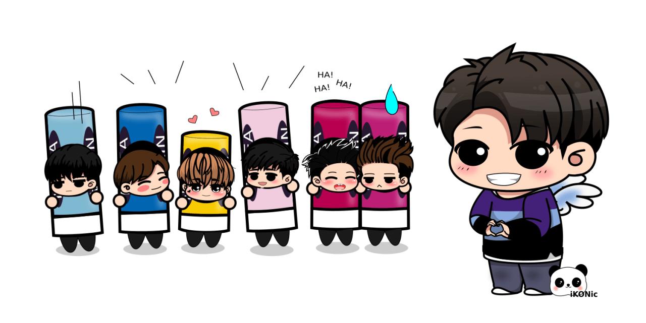 Cute Big Girl Wallpaper Ikon Fanart Ikon Fanart Yunhyeong With His Nivea Army