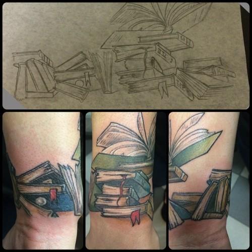 #books to start her #booksleeve #tattoo #tattoos #colortattoo @broadstreettattoo