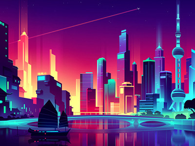 3d Hd Vaporwave Wallpaper City Neon Lights Tumblr