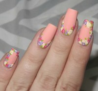 peach nail art | Tumblr