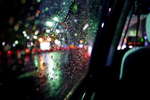 Car Lights Night Wallpaper Car Windows Rain Tumblr