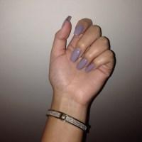 grey coffin nails | Tumblr