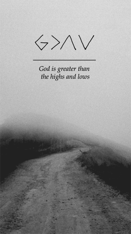 Iphone Lock Screen Wallpaper Not Showing God Is Greater Than Highs And Lows Tumblr