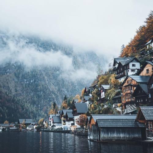Foggy Fall Wallpaper Hallstatt Tumblr