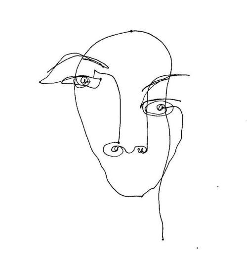 continuous line portrait Tumblr - line drawing