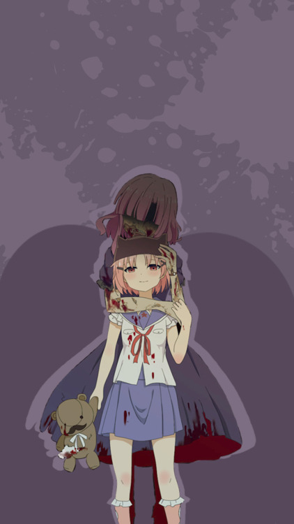 Wallpaper Pink Cute Girl Anime Zombie Girl Tumblr