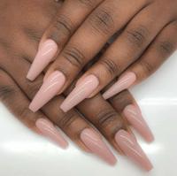 long squared nails | Tumblr