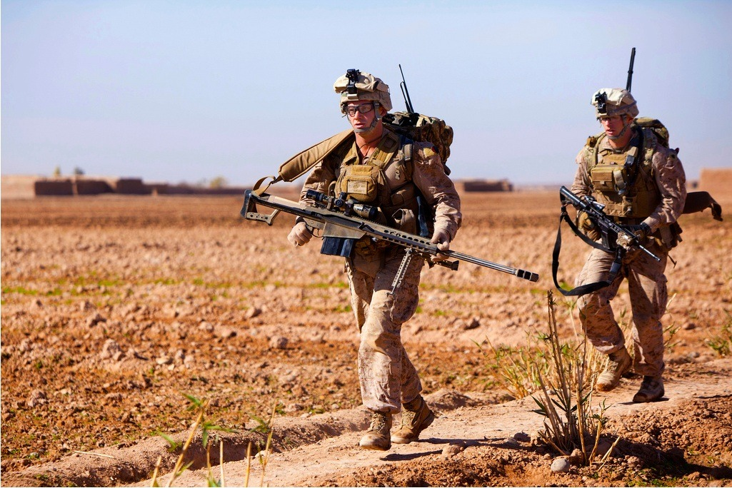 Military Armament A Scout Sniper with 1st Battalion, 9th Marines,