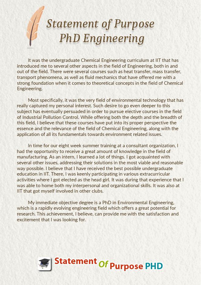 PhD SoP Samples \u2014 Statement of Purpose PhD Engineering Sample - Sample Of Statement Of Purpose