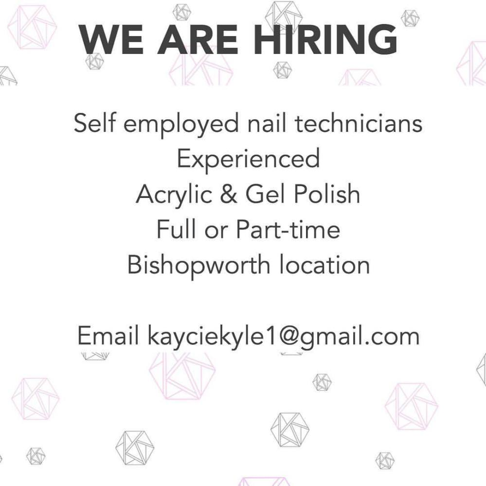 We are looking for someone experienced in acrylics and gel to join our bishopworth team