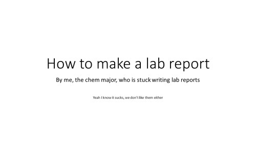 chemistry lab report at least Tumblr