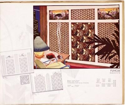 Design is fine. — Mar Chas, wallpaper catalogue, 1930. Brepols,...