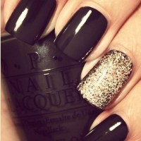 black and gold nails on Tumblr
