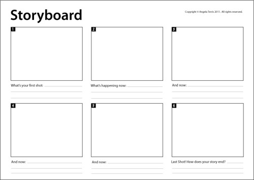 Storyboard Template Really useful for mapping Animating People - digital storyboard templates