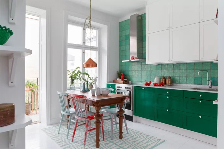 White Green Kitchen Ideas Kitchen In White And Green // Кухня в бяло и зелено – 79 Ideas