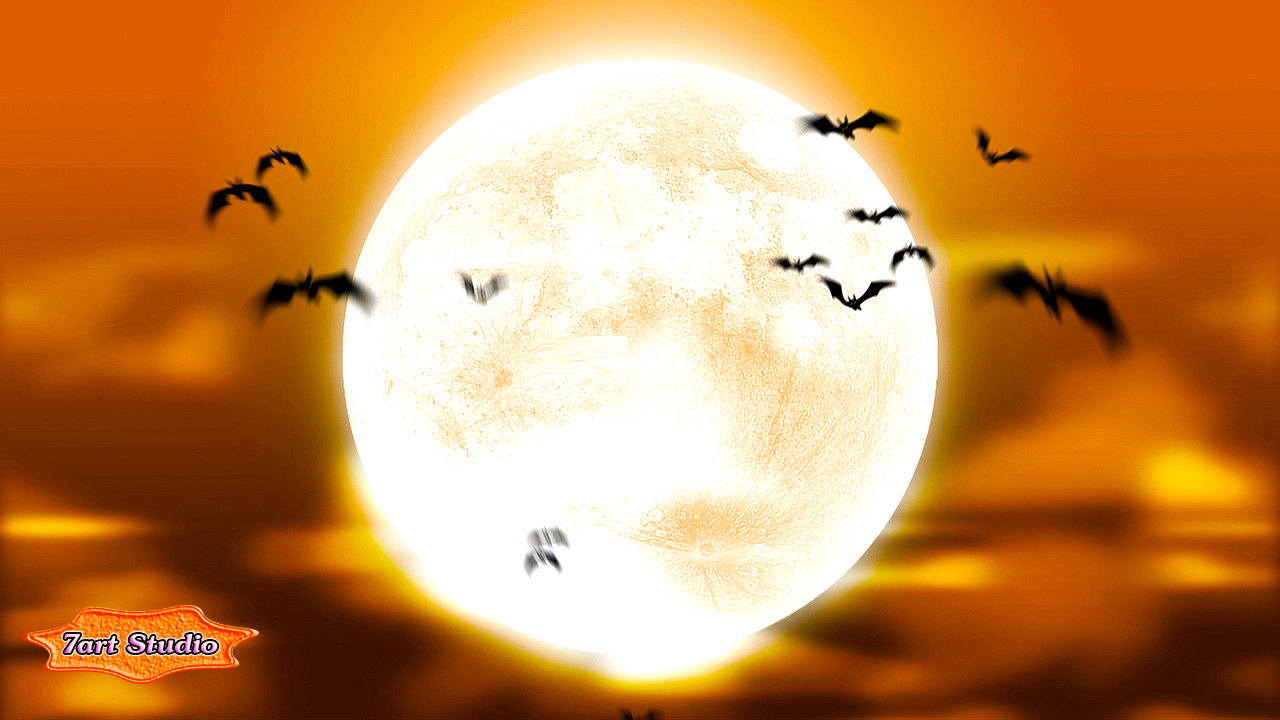 Free Snow Falling Live Wallpaper Full Moon Bats Screensaver And Live Animated Wallpaper For