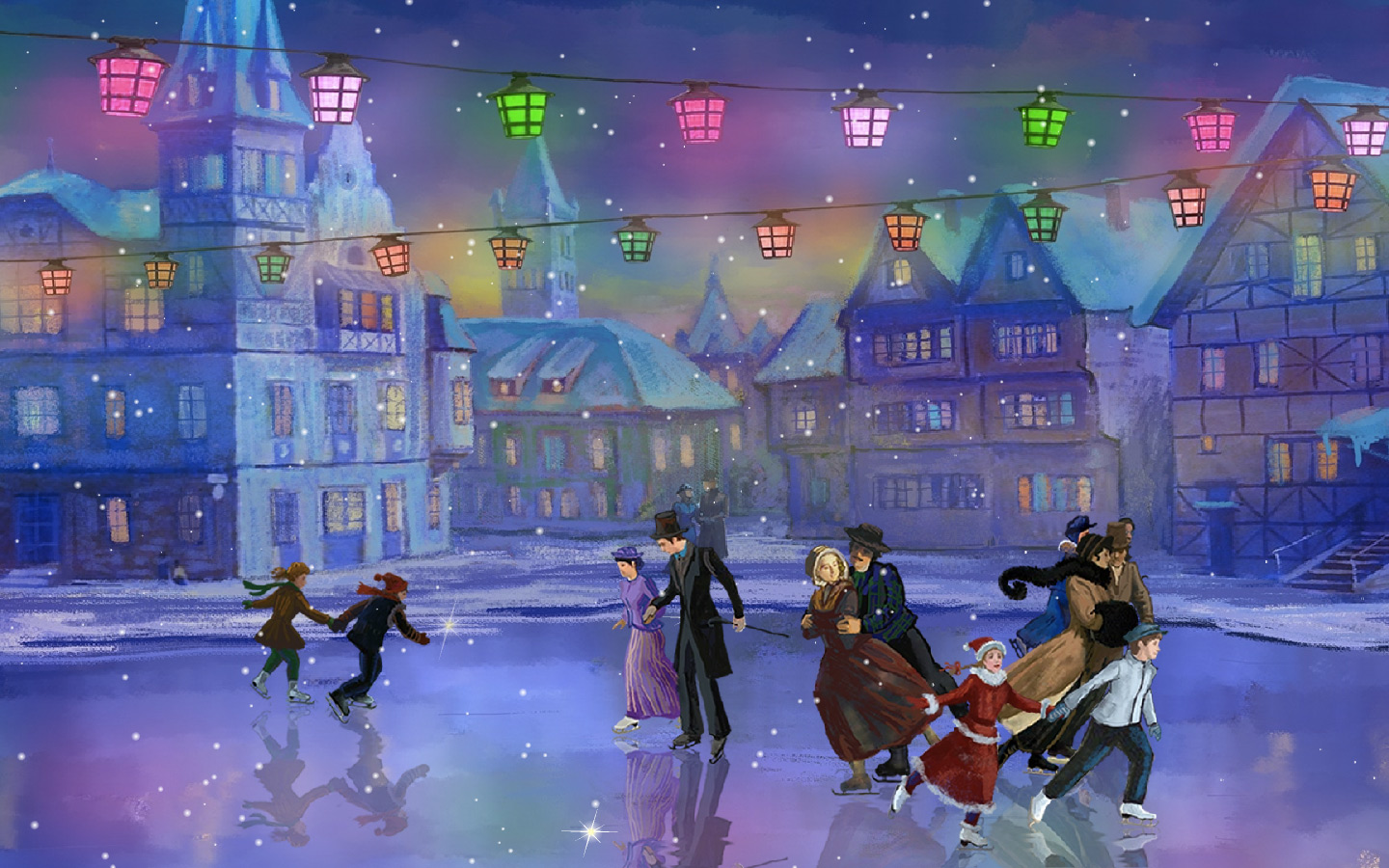 Snow Village 3d Live Wallpaper And Screensaver Love Rink Screensaver Amp Animated Desktop Wallpaper Join