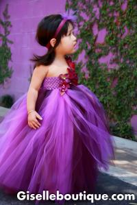 Flower Girl Dress Eggplant And Purple , Baby Tutu Dress ...