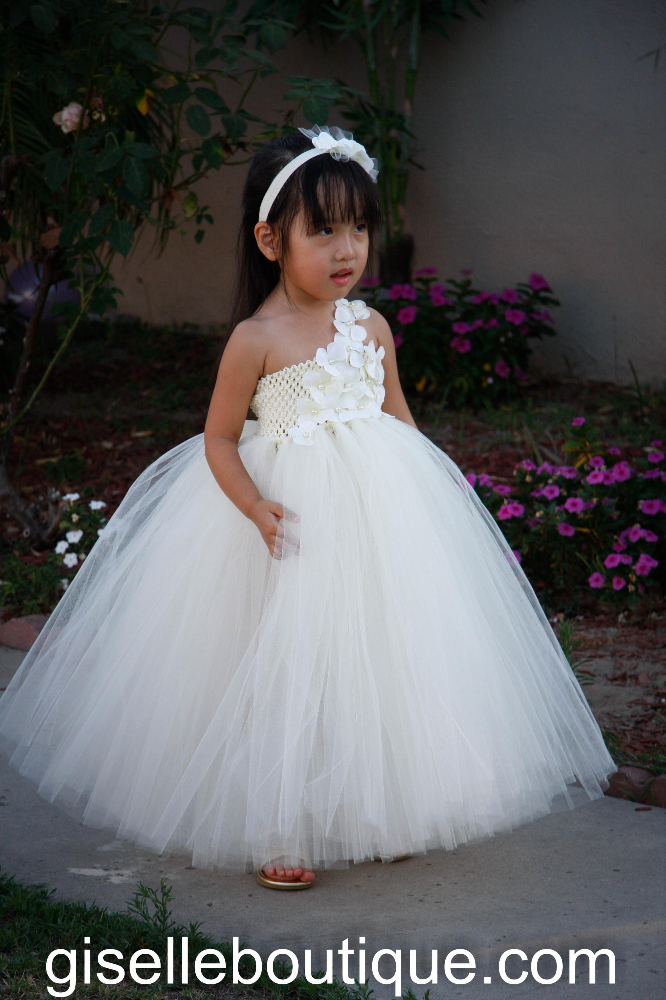 flower girl dress ivory with ivory flowers and pearls wedding birthday flower girl wedding dresses Flower girl dress Ivory with Ivory flowers and Pearls Wedding Birthday