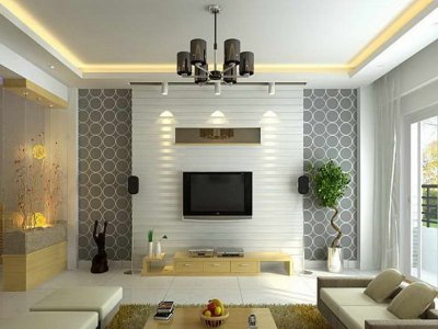 Wallpaper Design For Elegant Living Room - 4 Home Ideas