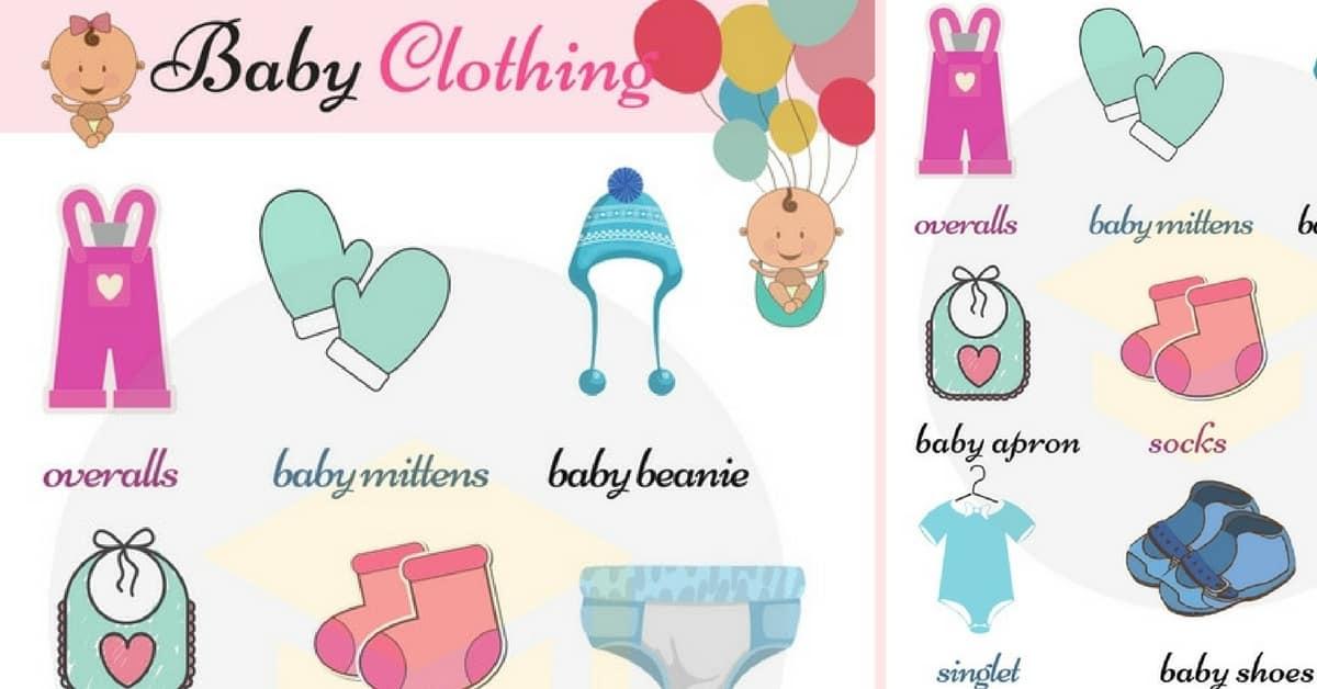 English Vocabulary Children39s Clothing 7 E S L