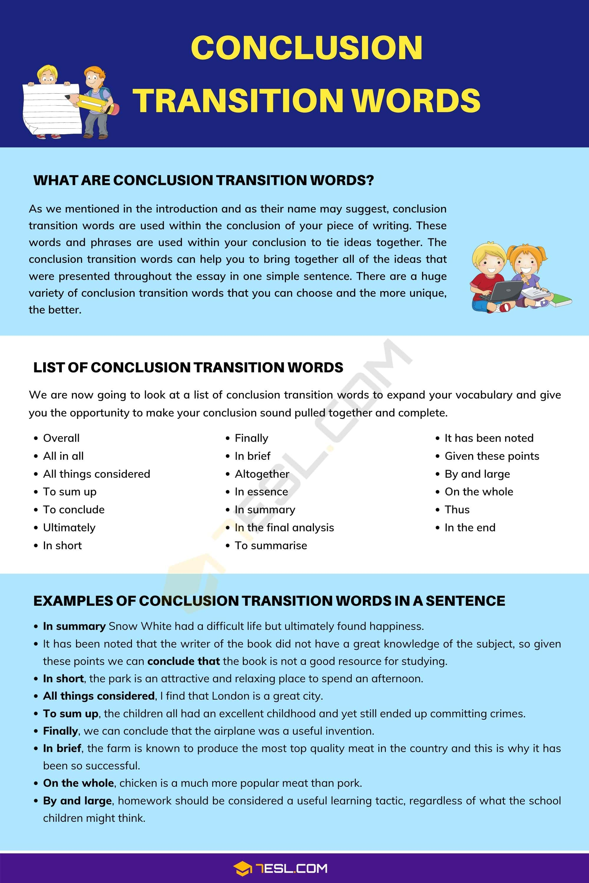 word transitions